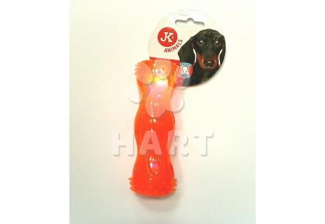Blikající LED hračka z TPR, dl.17.5cm, prům.4,5cm