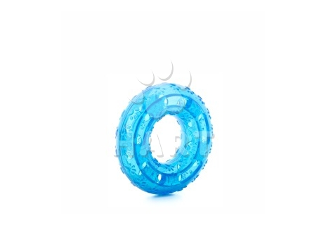 Kruh modrý, odolná (gumová) hračka z TPR, prům.12cm