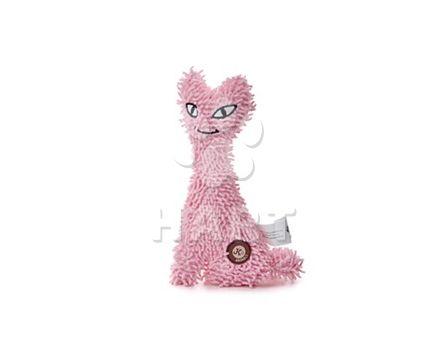Kočka plyš růžová, plyšová pískací hračka, vel.23cm