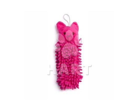 Růžová koala mop, plyšová pískací hračka, vel. 25cm