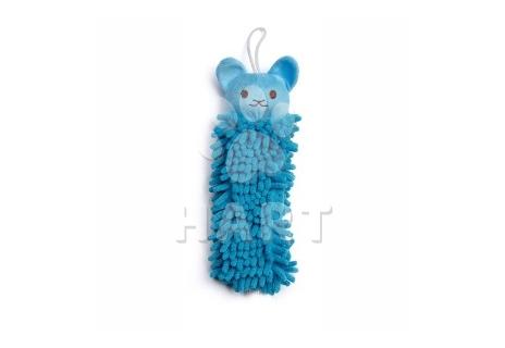 Modrá koala mop, plyšová pískací hračka, vel. 25cm