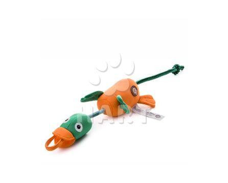 Létající/vystřelovací kachna, polyesterová pískací plovoucí hračka, vel.58cm