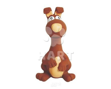 Latexová pískací hračka - zvířátko hnědé 15cm