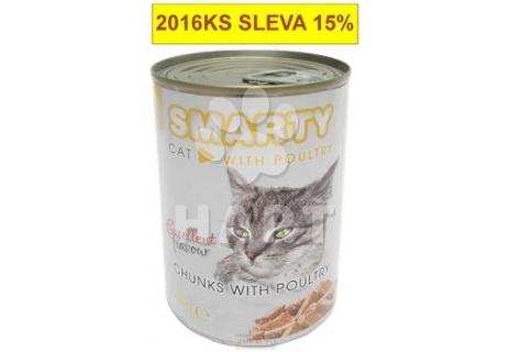SMARTY chunks CAT Poultry-DRŮBEŽÍ  410g