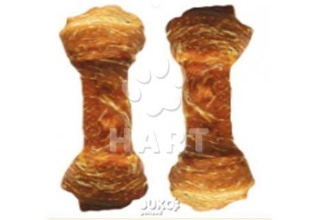 Buvolí uzel celoobalený-KUŘE 15cm (75-90g)