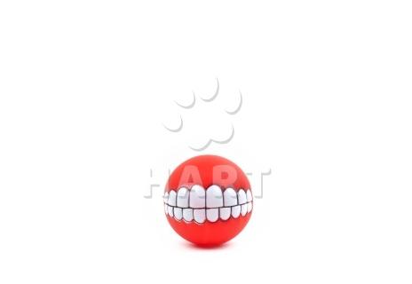 """Míč """"úsměv"""" vinil, pískací, různé barvy, vel.7,5cm        1ks"""
