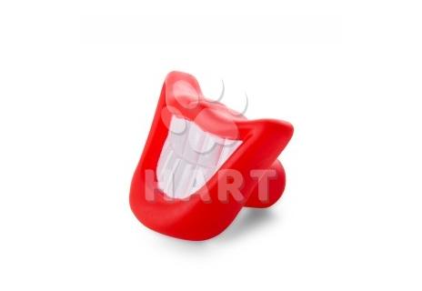 Vinylový úsměv – zuby 9 cm, (gumová) pískací hračka