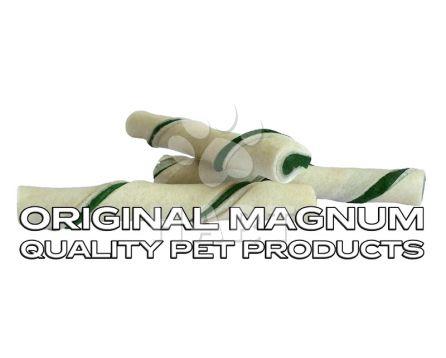"MAGNUM Rawhide Roll stick GREEN 5""/dl.12,5cm (pamlsky) 1ks"