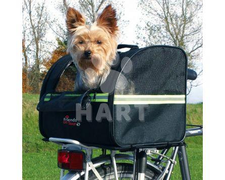 Přepraví taška na psa na zadní nosič kola do 8kg váhy psa