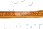 "Vodítko přepínací GRAZL kožené vzor ""žalud"", š.18mm, dl.240cm"