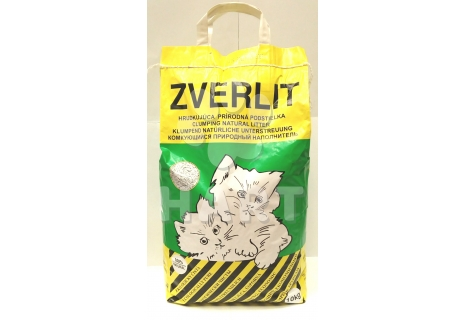 ZVERLIT 10kg - stelivo wc cat (zelený-bez vůně)