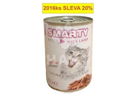 SMARTY chunks JUNIOR CAT lam(s jehnětem)  410g