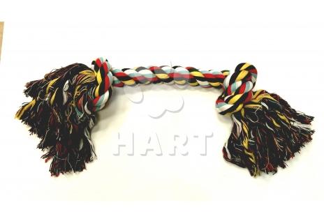 Uzel bavlna barevný 55cm, 2 uzly