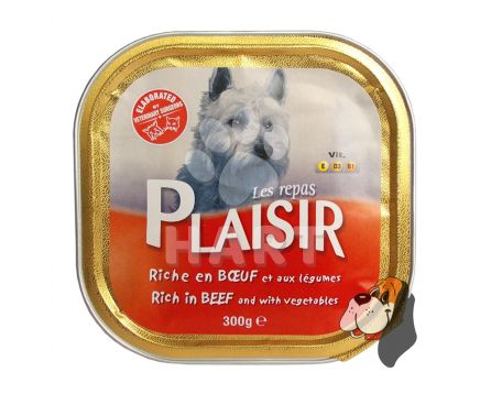 Plaisir Dog vanička Hovězí 300g