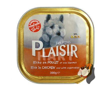 Plaisir Dog vanička Kuře 300g