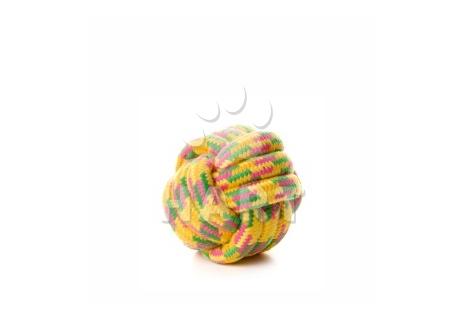 Bavlněný proplétaný míč 10 cm, bavlněná hračka