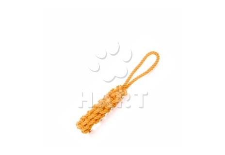 Bavlněné přetahovadlo oranžové 40 cm, bavlněná hračka