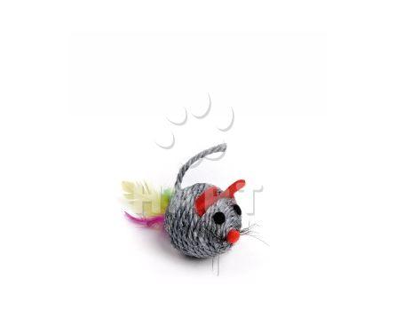 Chrastící myš koule, sisalová hračka, vel.5cm