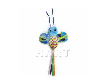 Modrý šustící motýl, hračka, dl.28cm