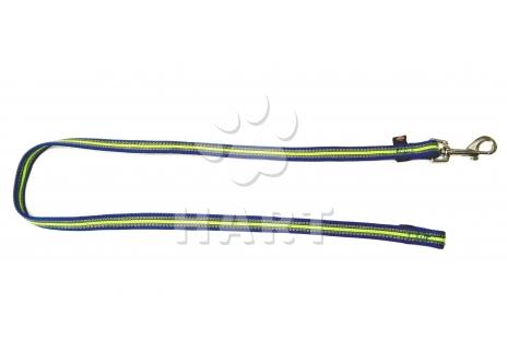 Vodítko krátké výcvikové bez poutka FUSION, ploché, š.17mm/dl.1m