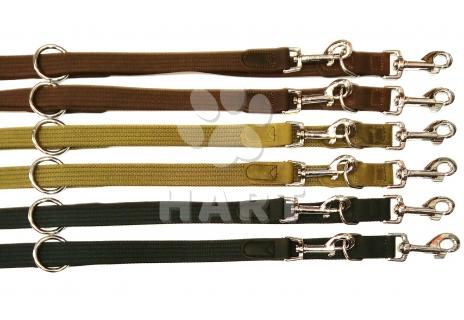 Vodítko přepínací - popruh bavlna/kůže, š.25mm/ dl.240cm 1ks