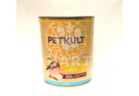 PETKULT dog konzerva pro štěňata JUNIOR - kuřecí  800g