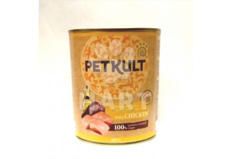 Petkult Dog konzerva Adult kuřecí 800g