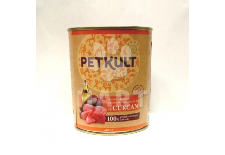 PETKULT dog konzerva ADULT turkey-krůtí 800g