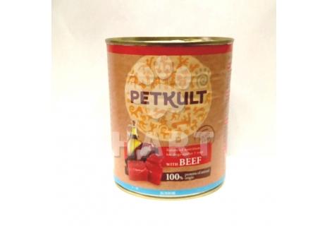 Petkult Dog konzerva Adult beef-hovězí 800g
