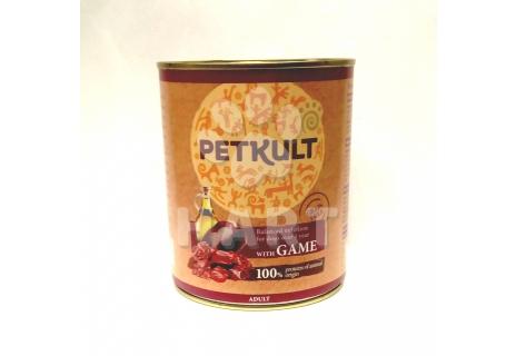 PETKULT dog konz. ADULT 800g Zvěřina