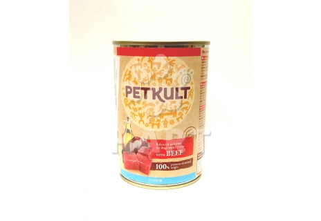 PETKULT dog konz. JUNIOR hovězí 400g