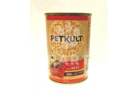 PETKULT dog konzerva ADULT hovězí 400g