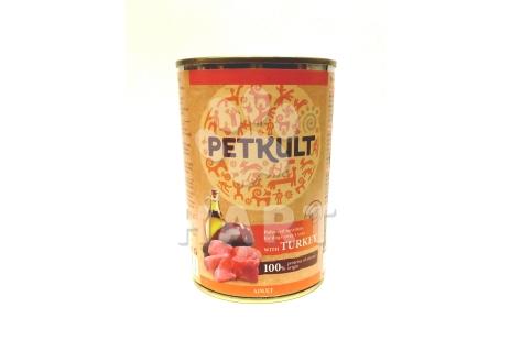 PETKULT dog konzerva ADULT krocan 400g