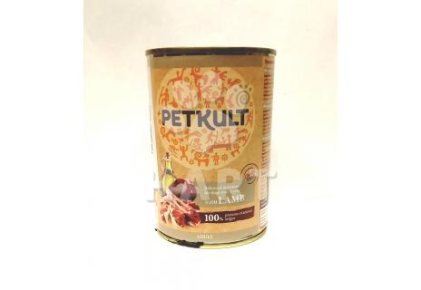 Petkult Dog konzerva Adult lamb-jehně 400g