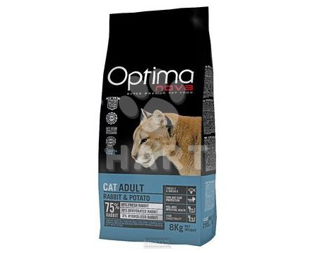OPTIMAnova CAT ADULT RABBIT & POTATO grain free - BEZ OBILOVIN  8kg