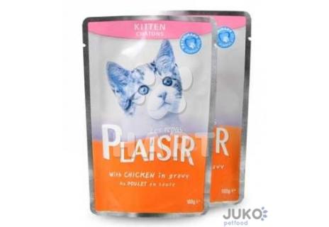 Plaisir Cat kapsička 100g KITTEN kuřecí v omáčce
