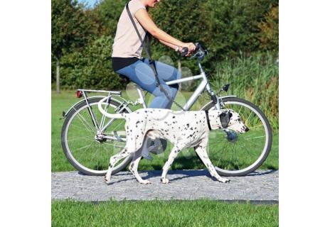 Vodítko na kolo a joging 1,00-2,00m/25mm - s karabinami a suchým zipem