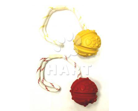 Balonek na šňůrce červený, plovoucí, dl.35cm, prům 7cm zn.Trixie