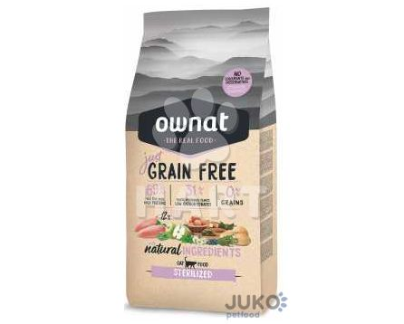 OWNAT Cat JUST GRAIN FREE Sterilized 1kg