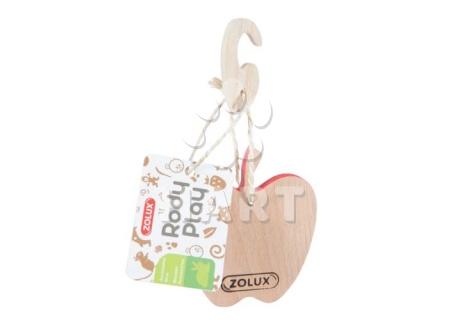 ZOLUX dřevěný přívěsek na hlodání do klece pro hlodavce - jablíčko