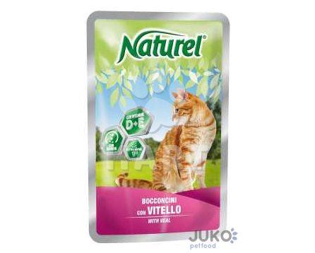 Naturel cat pouches VEAL (telecí) 100g