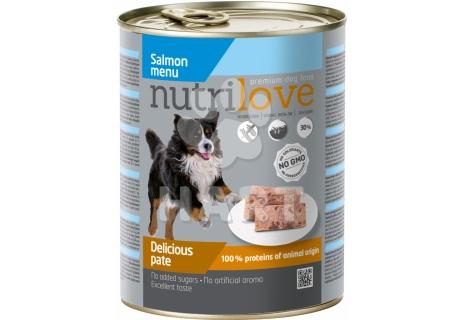 Nutrilove pes paté losos, celkem 60% masa,  800g