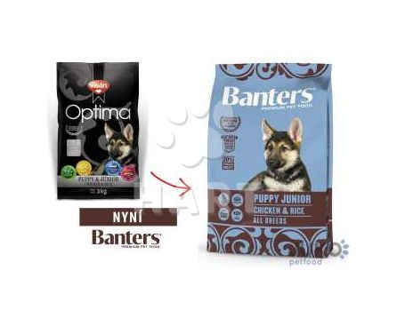 Banters (Visán OPTIMA) Puppy Junior Chicken&Rice 3kg