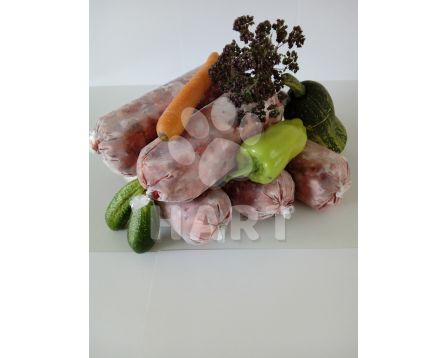 Hovězí + vepřové maso hrubě mleté kusy      1kg