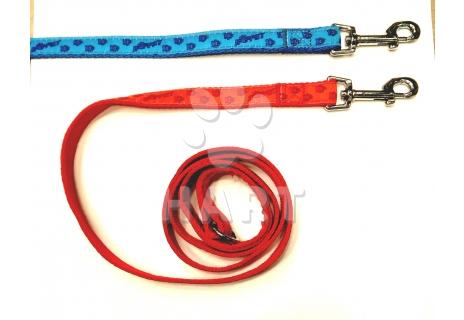 Vodítko vzor TLAPKY BAF podšitý, š.20mm dl.150cm