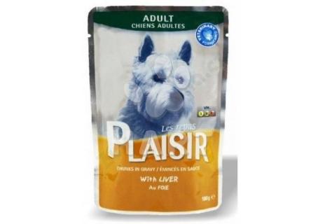 Plaisir Dog adult  kapsička 100g, s játry, 40% masa