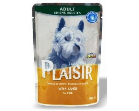 Plaisir Dog adult  kapsička 100g, s játry, 40% masa