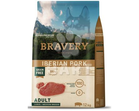 Bravery Dog   ADULT LARGE/MEDIUM Iberian pork (iberské prase)   4kg