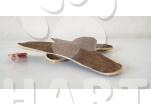 Hračka, bumerang LEDER malá kůže, pískací, cca 20cm