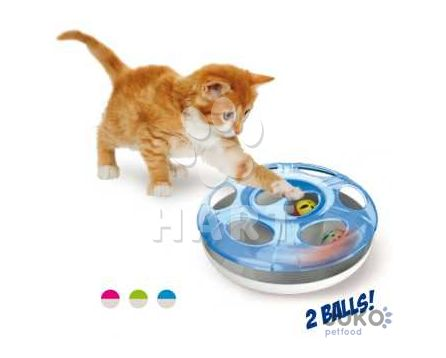 Hračka pro kočky plastová UFO prům.25cm x výška 8cm